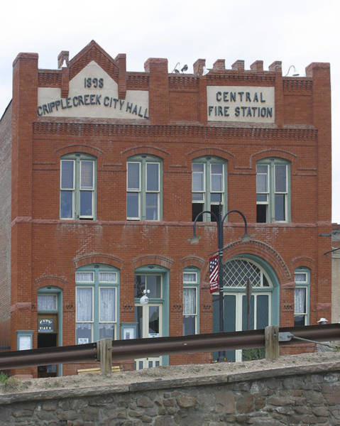 Central Fire Station Photograph - Cripple Creek City Hall And Fire Station by Gregory Scott