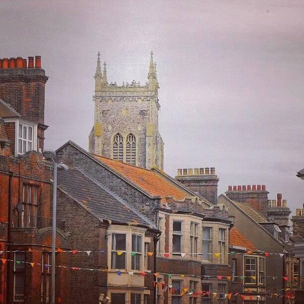 Norfolk Photograph - #cromer #latergram #buildings by Alexandra Cook