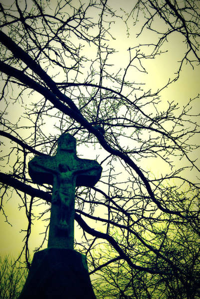 Photograph - Cross In The Trees by Lora Mercado