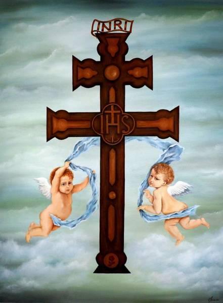 Inri Wall Art - Painting - Cross Of Caravaca by Yelena Day