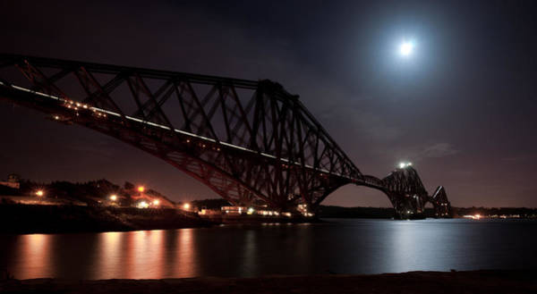 Crossing The Firth Under A Full Moon Art Print
