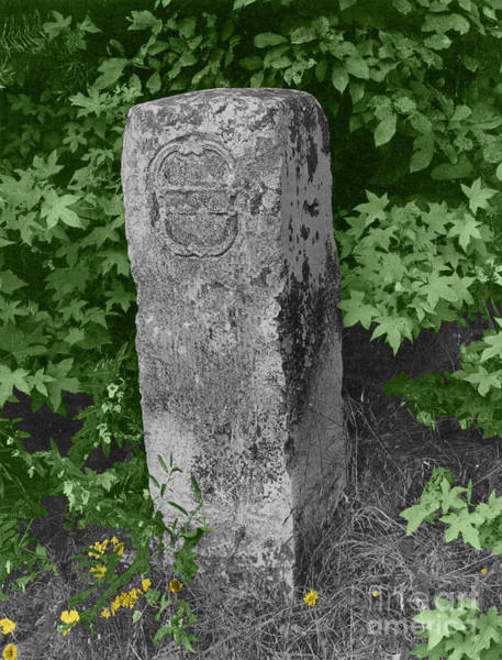 Dixon Photograph - Crownstone Marker Along Mason-dixon Line by Photo Researchers