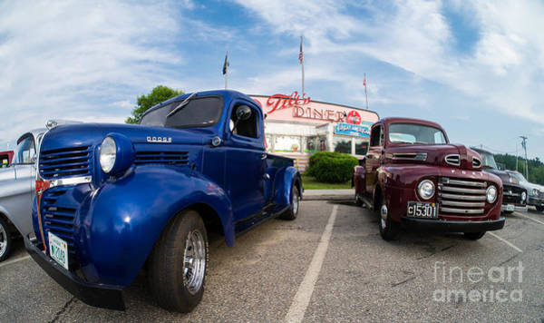 Car Show Photograph - Cruise Night At The Diner by Edward Fielding