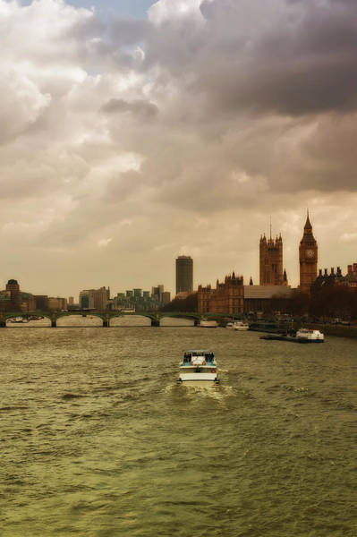 The Clock Tower Photograph - Cruise On River Thames In London - England by Alexandre Fundone