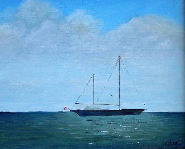Wall Art - Painting - Cruising Sailboat by Patricia Caldwell