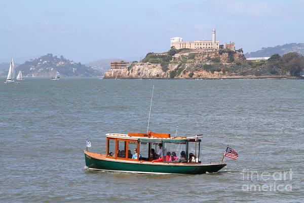 Photograph - Cruizing The San Francisco Bay On The Pier 39 Boat Taxi With Alcatraz Island In The Distance.7d14322 by Wingsdomain Art and Photography