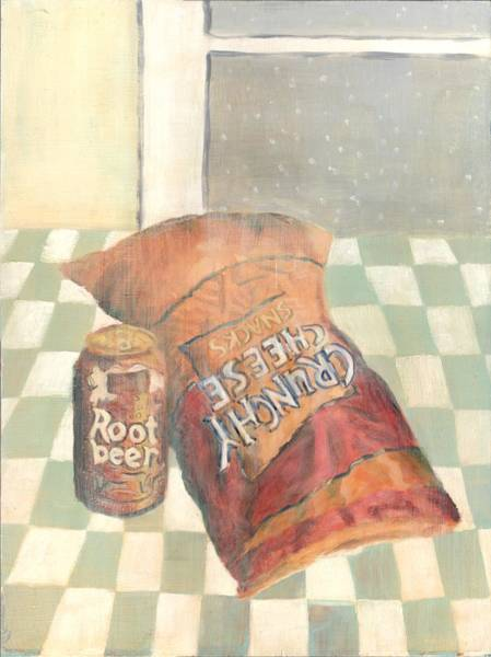 Soda Pop Painting - Crunchy Cheese - Winter by Thomas Weeks