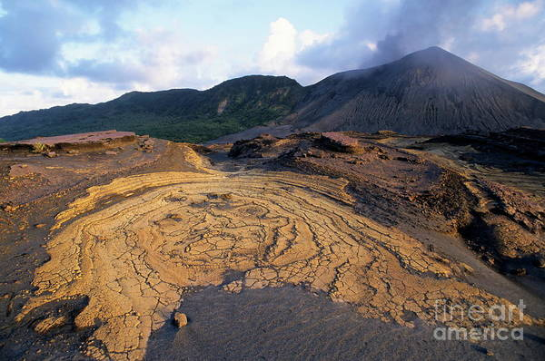 Yasur Photograph - Crusts And Ashes Around Mount Yasur Volcano by Sami Sarkis