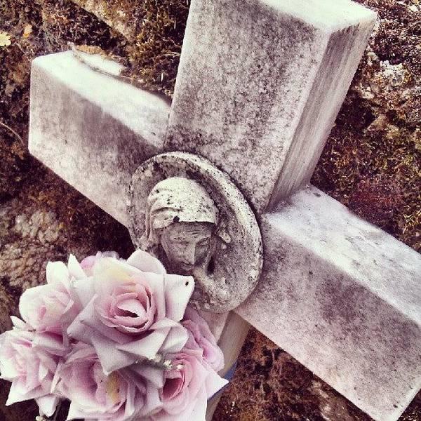 Death Wall Art - Photograph - Cruz #cruz #cross #instagram #virgin by Daniel Suarez