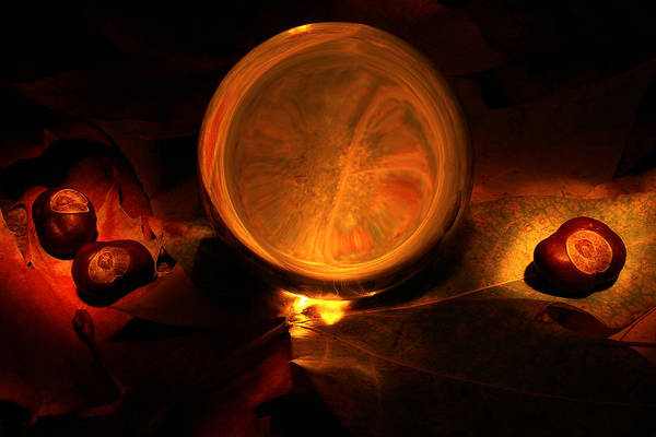 Wicca Photograph - Crystal Ball by Fabrizio Troiani