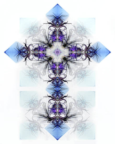 Ice Plant Digital Art - Crystal Cross by Francesa Miller