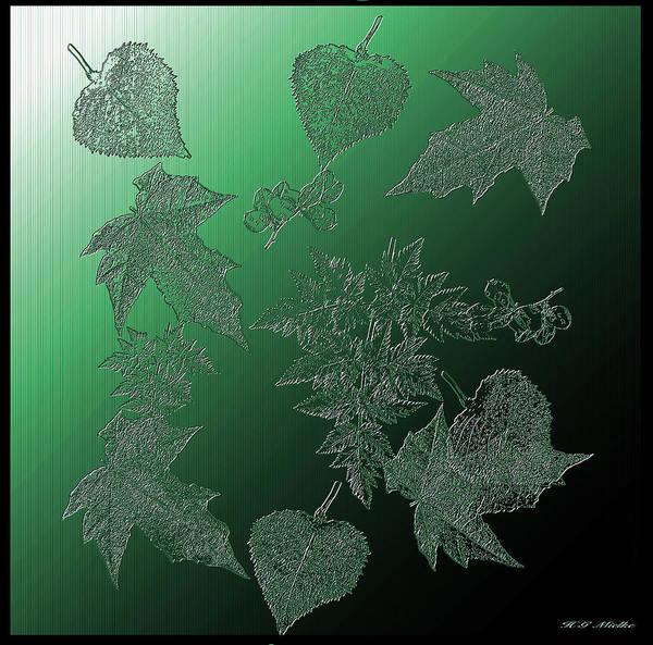 Wall Art - Digital Art - Crystal Leaves by Heinz G Mielke