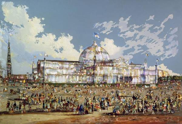 Oil Industry Painting - Crystal Palace New York by WS Parkes