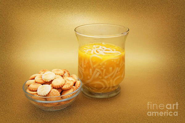 Photograph - Cup O Soup And Oyster Crackers by Andee Design