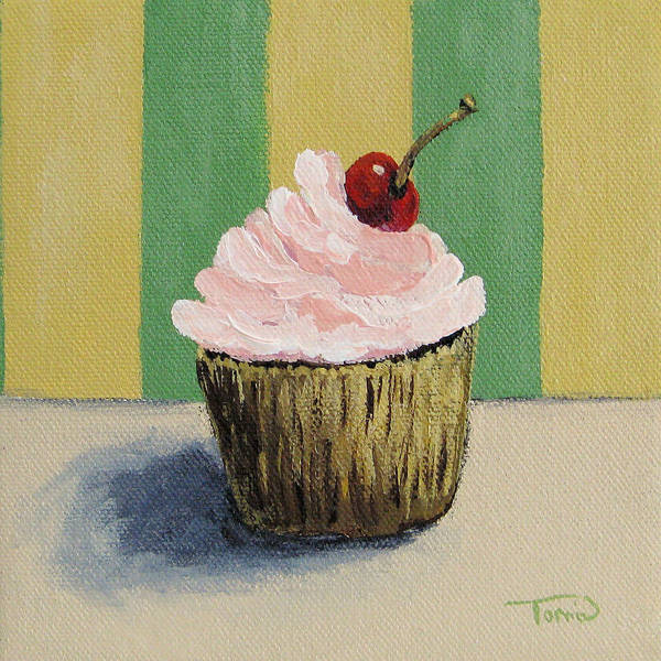 Wall Art - Painting - Cupcake 002 by Torrie Smiley