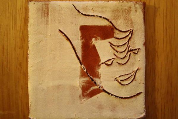 Ceramic Art - Curiousity - Tile by Gloria Ssali