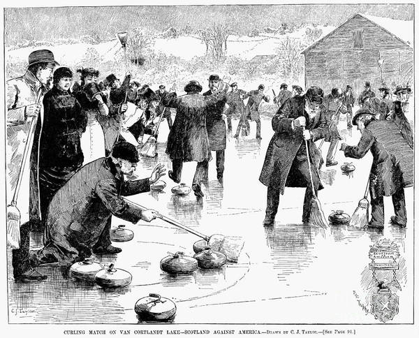 Photograph - Curling, 1884 by Granger