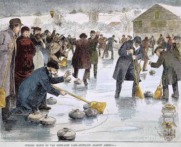 Photograph - Curling Match, 1884 by Granger
