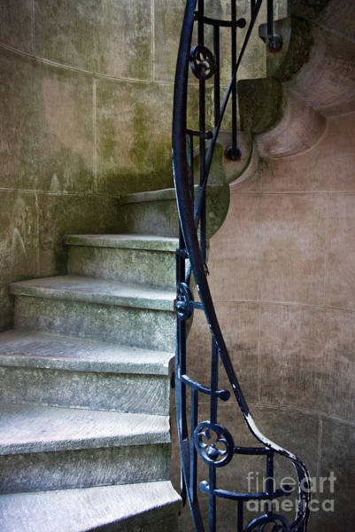 Rotate Photograph - Curly Stairway by Carlos Caetano