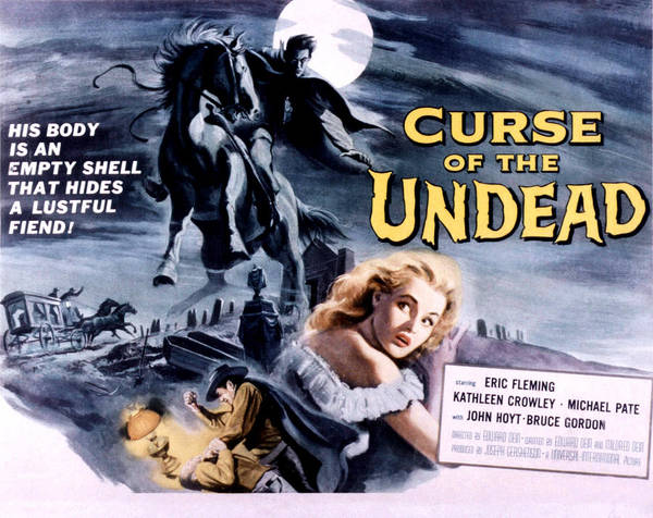 The Undead Photograph - Curse Of The Undead, Kathleen Crowley by Everett