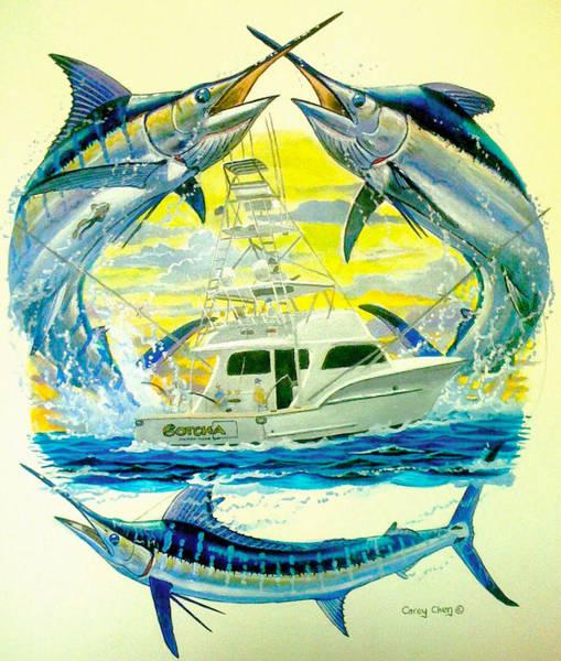 Sportfishing Painting - Custom Artwork by Carey Chen