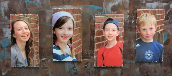 Mixed Media - Custom Photo Portrait Group by Anita Burgermeister