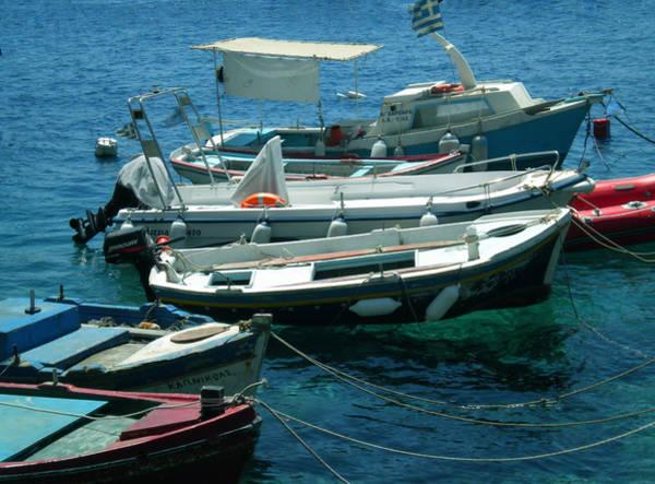 Photograph - Cute Fishingboats Santorini  by Colette V Hera  Guggenheim