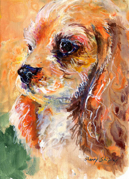 Painting - Cuteness by Sherry Shipley