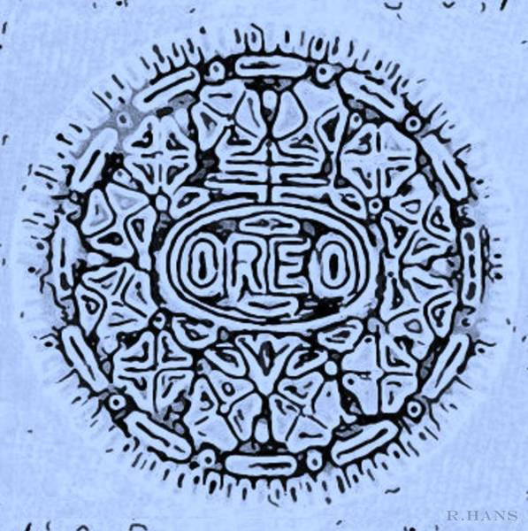 Nabisco Photograph - Cyan Oreo by Rob Hans