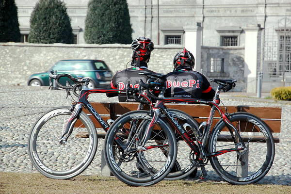 Wall Art - Photograph - Cyclists by Valentino Visentini