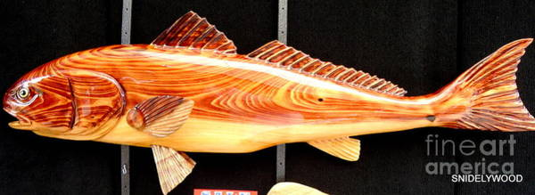 Wall Art - Sculpture - Cypress Red Fish by Douglas Snider