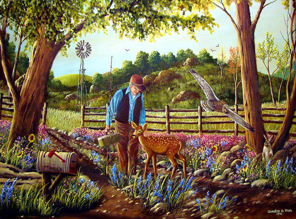 Wall Art - Painting - Dad's Friends by David G Paul