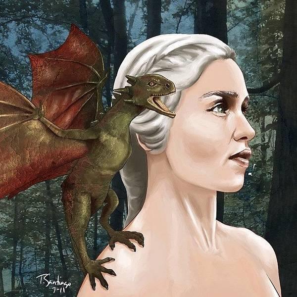 Pencil Wall Art - Photograph - Daenerys by Tony Santiago