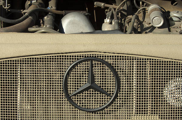 Wall Art - Photograph - Daimler-benz A-g Hood Emblem by Jill Reger