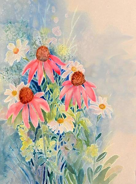 Painting - Daisy Morning by Pamela Lee