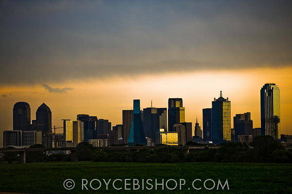 Photograph - Dallas In Silhouette by Royce Bishop