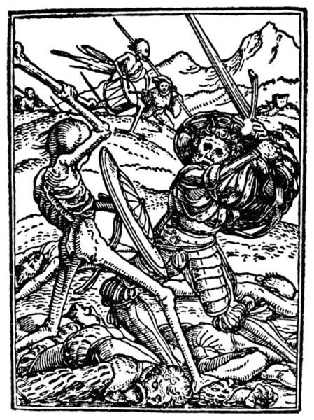 Photograph - Dance Of Death, 1538 by Granger