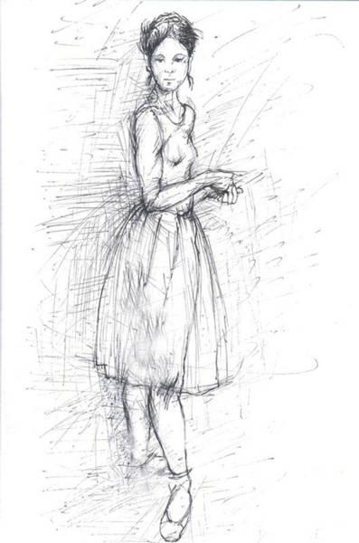 Hairdo Drawing - Dancer by Jovica Kostic