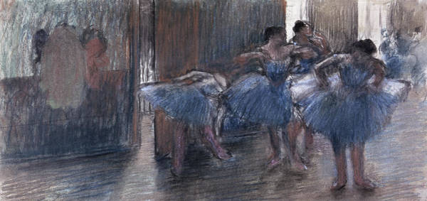 Classroom Painting - Dancers by Edgar Degas