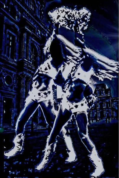 Cheerleaders Digital Art - Dancin In The Moonlight by Carrie OBrien Sibley