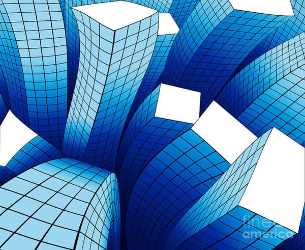 Construction Digital Art - Dancing Buildings by Atiketta Sangasaeng