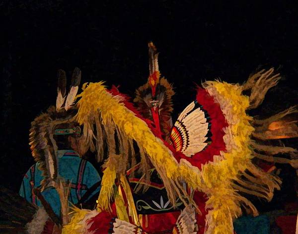 Tribal Dance Digital Art - Dancing Feathers by Christy Leigh