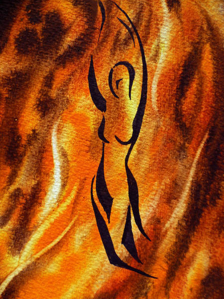 Fire Dance Wall Art - Painting - Dancing Fire V by Irina Sztukowski