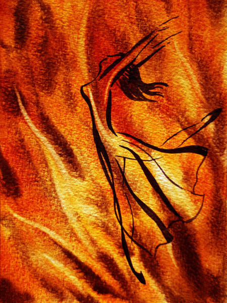 Fire Dance Wall Art - Painting - Dancing Fire Vi by Irina Sztukowski