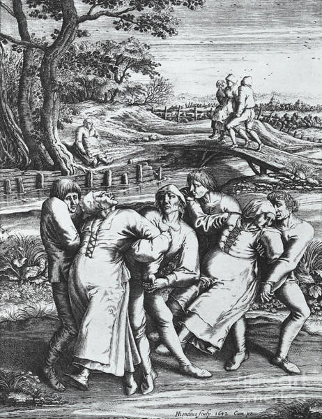 Wall Art - Photograph - Dancing Mania, 1564 by Science Source