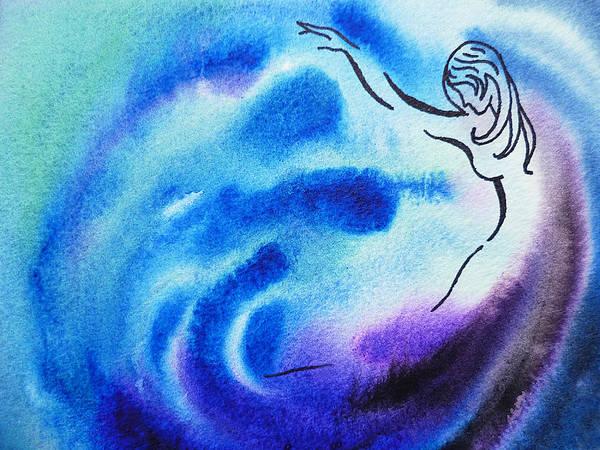 Painting - Dancing Water I by Irina Sztukowski