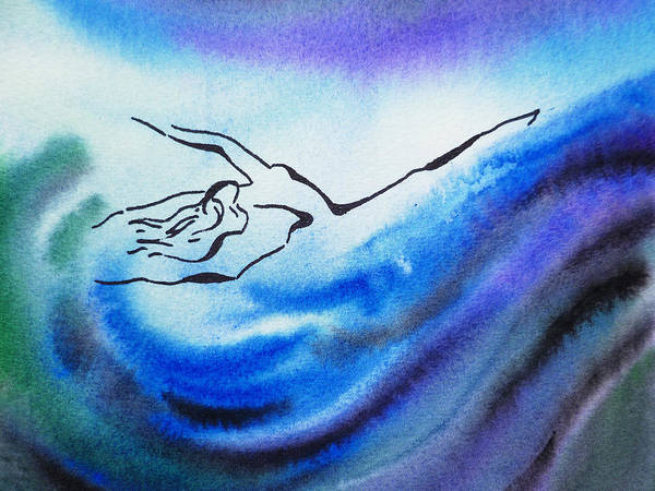 Painting - Dancing Water IIi by Irina Sztukowski
