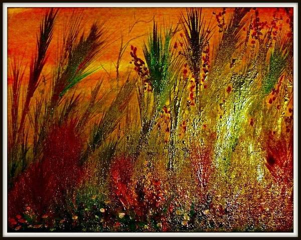Benny Painting - Dancing Wild Flowers by Benny Lawrence