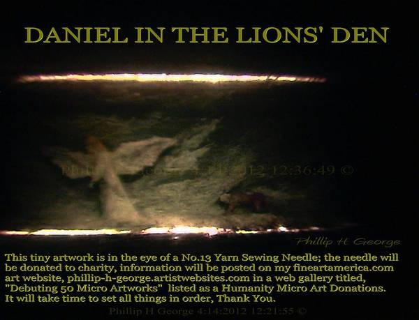 Daniel In The Loin's Den Info Photo No.2  Art Print