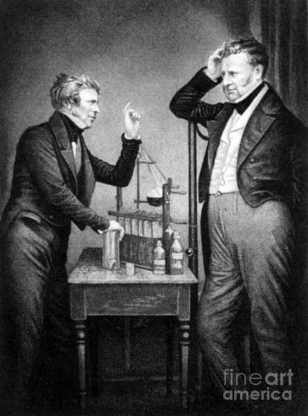 Diamagnetism Wall Art - Photograph - Daniell And Faraday, Founders by Science Source